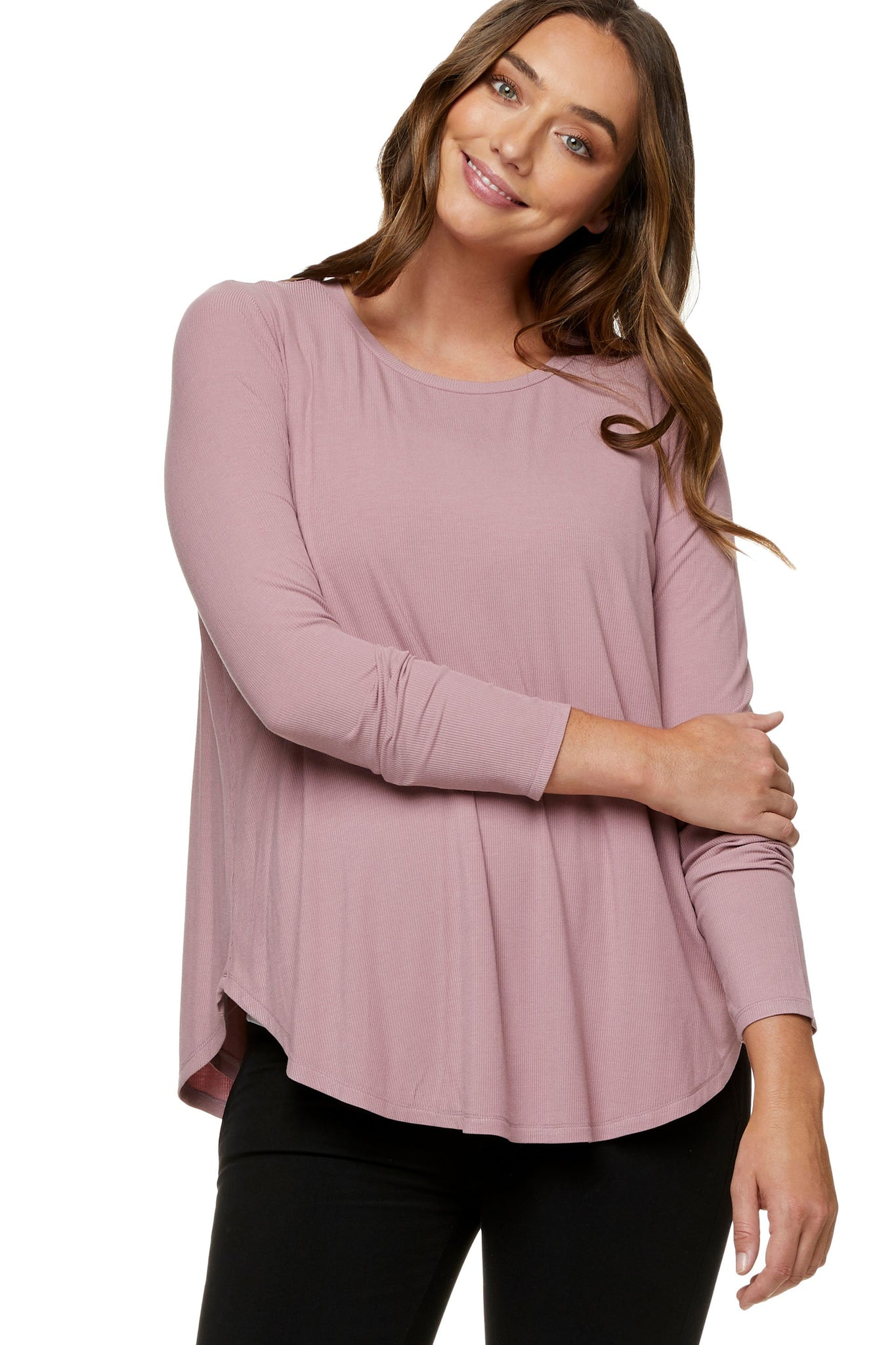 Pink long sleeve nursing top 8