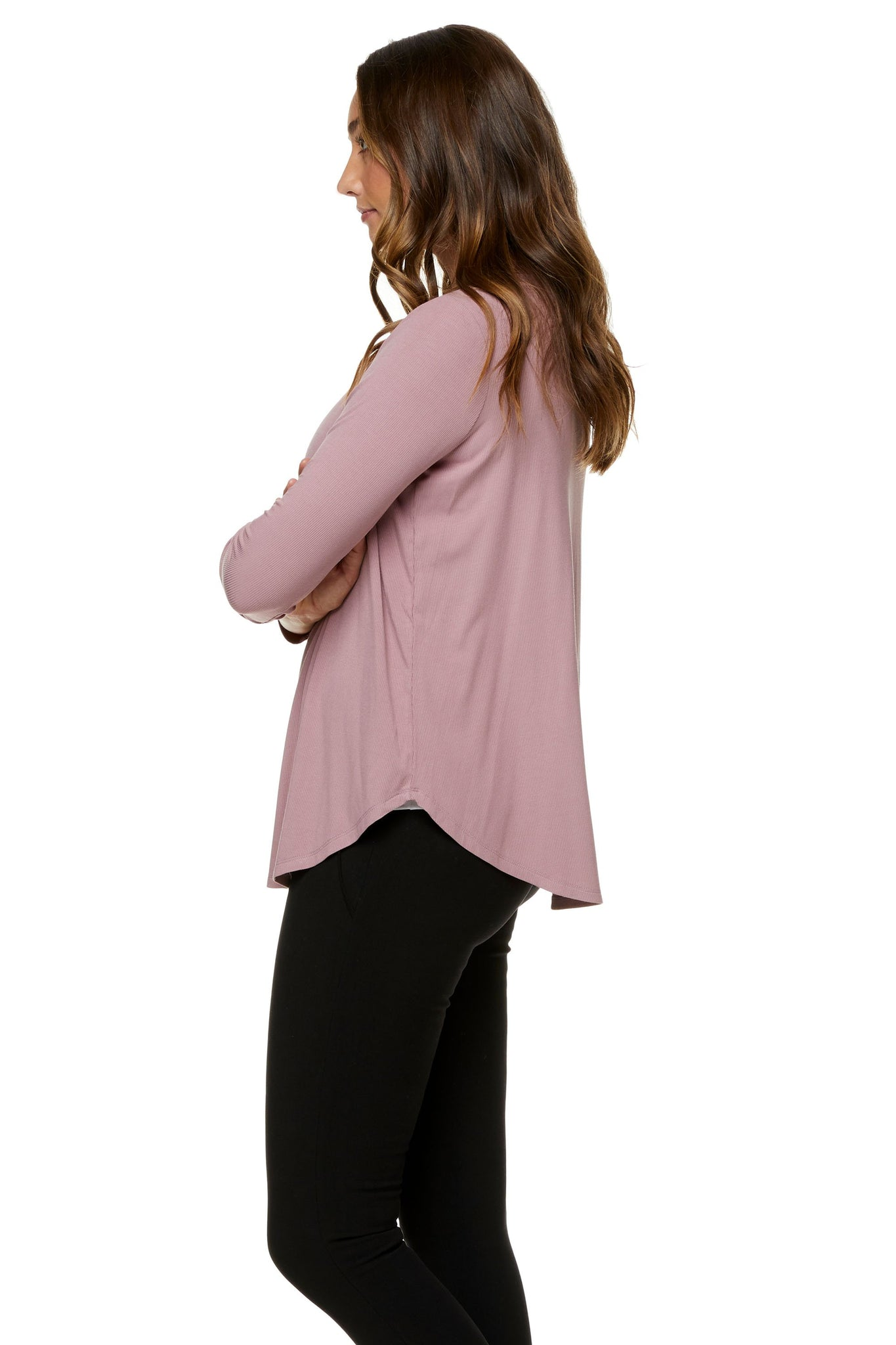 Pink long sleeve nursing top 6