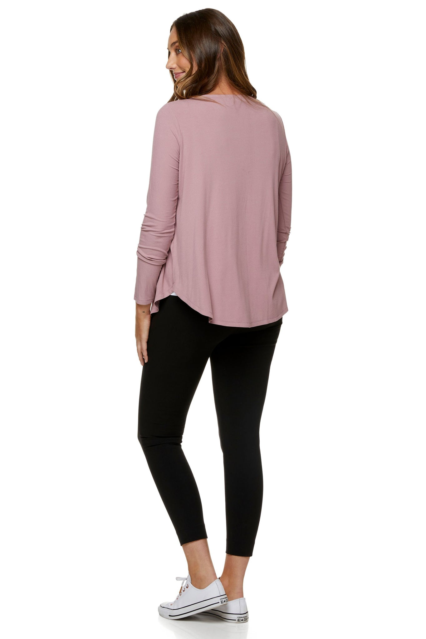 Pink long sleeve nursing top 7