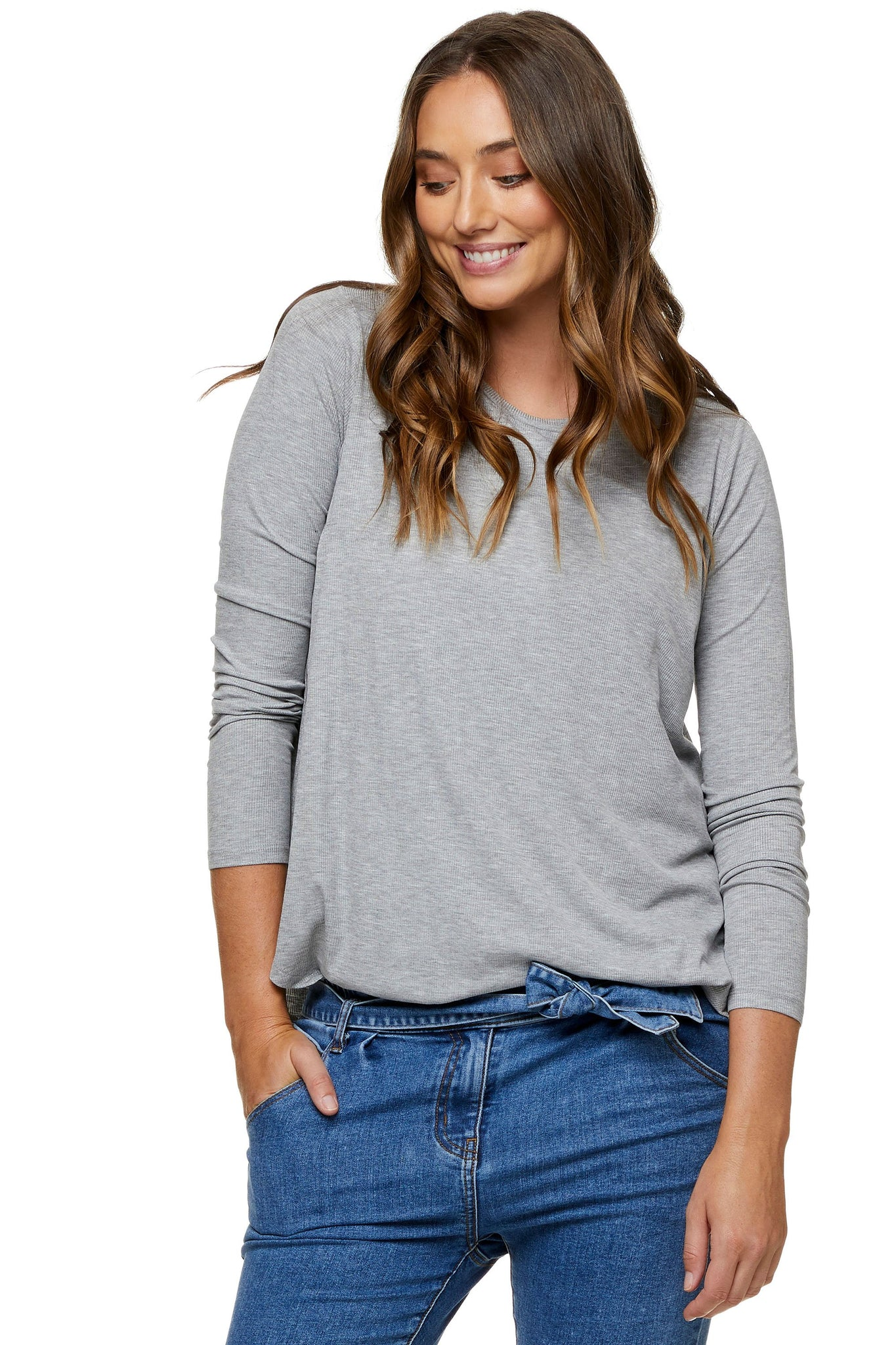 Grey nursing top - Maternity long sleeve top 10