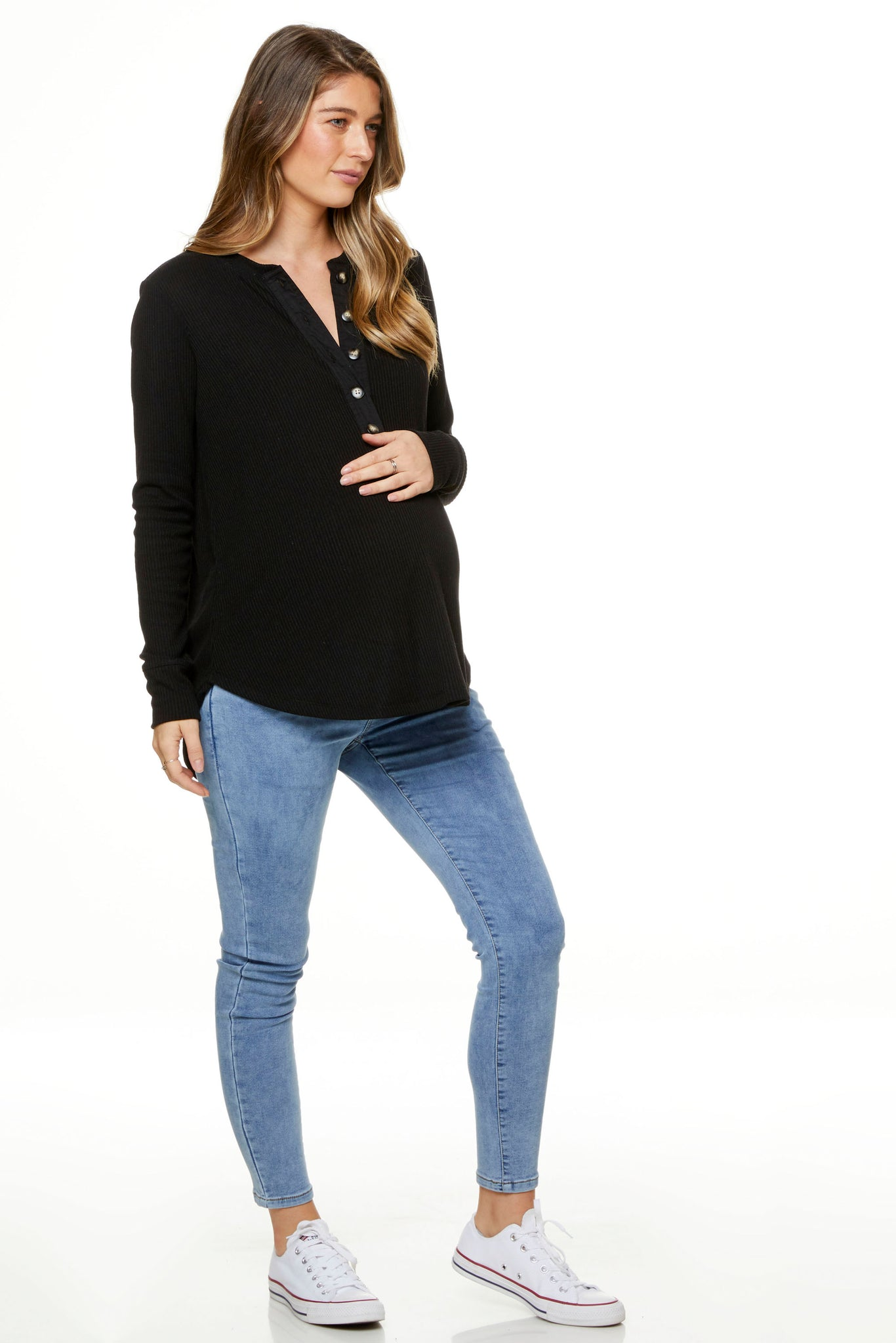 Maternity Top Black Image 4