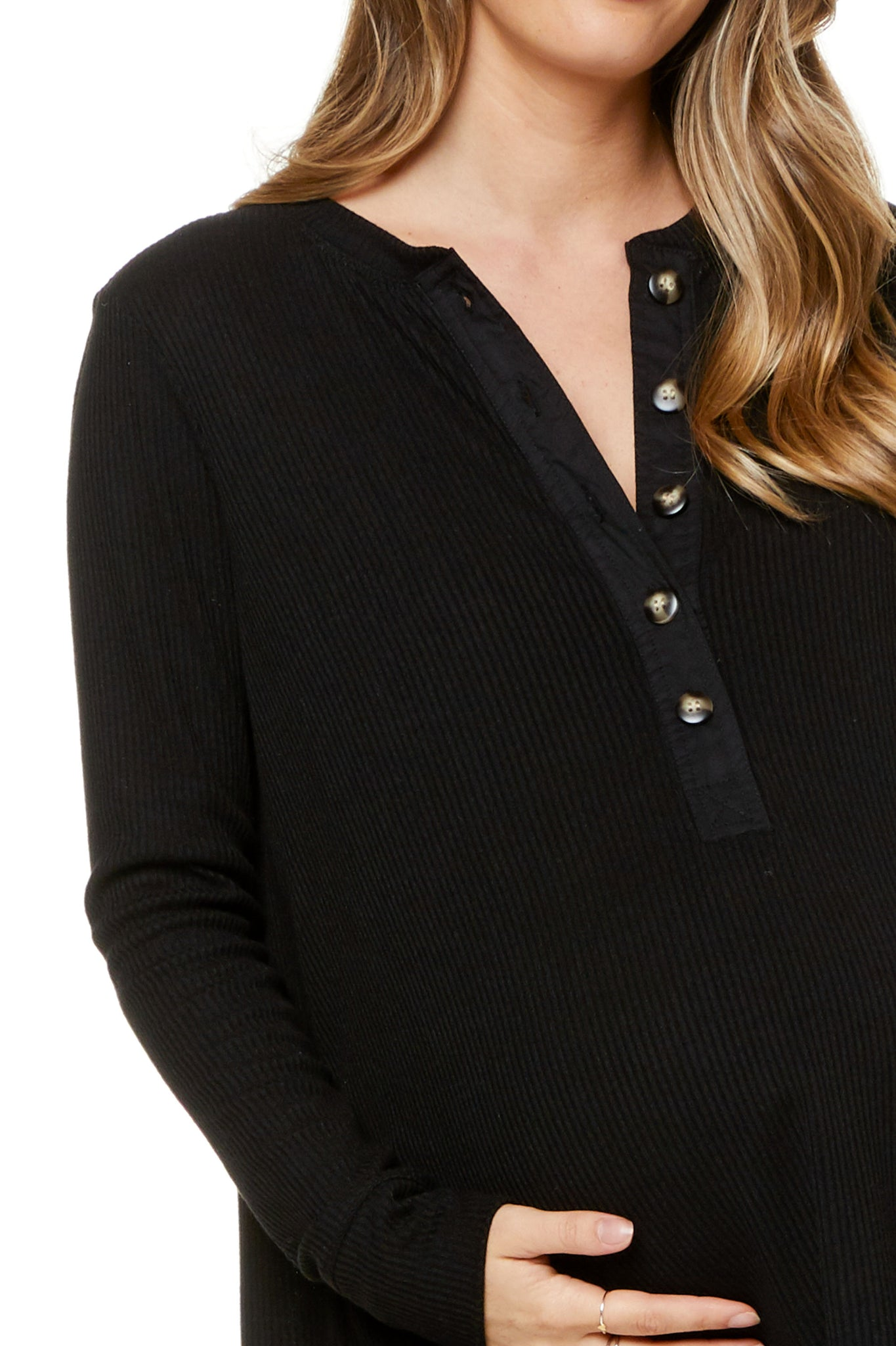 Maternity Top Black Image 5