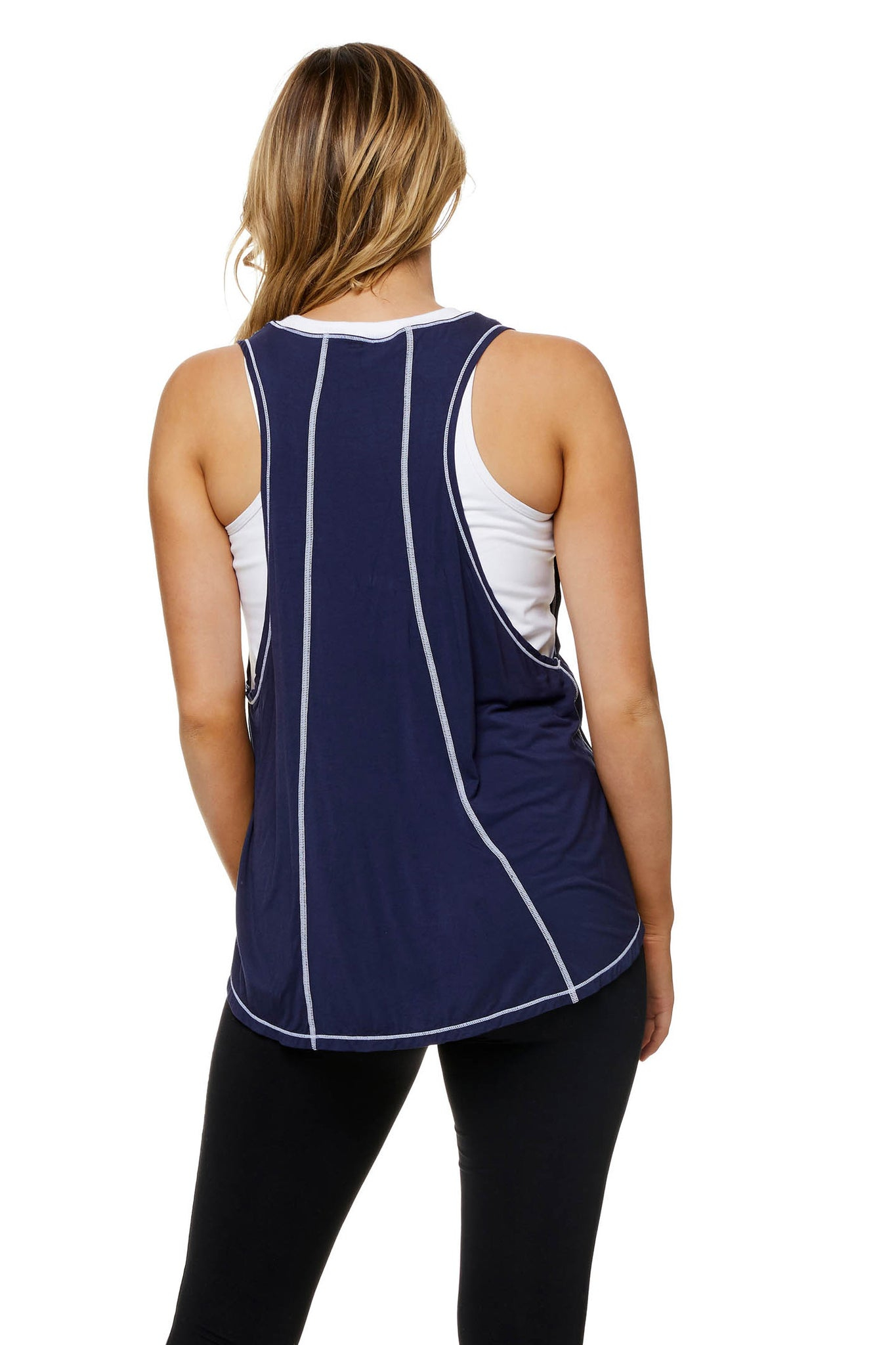 Maternity and Nursing Active Tank Navy Image 4