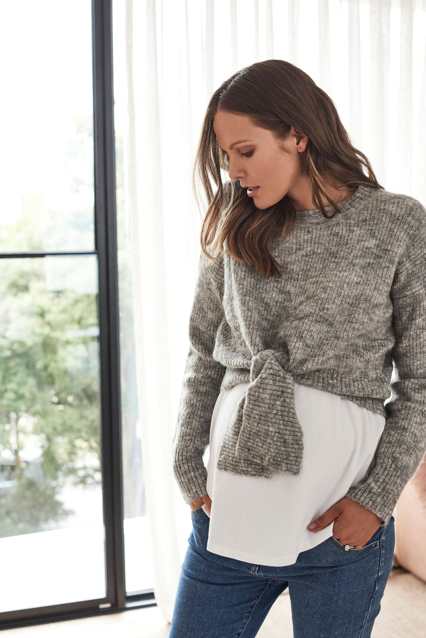 Maternity Grey Jumper 10