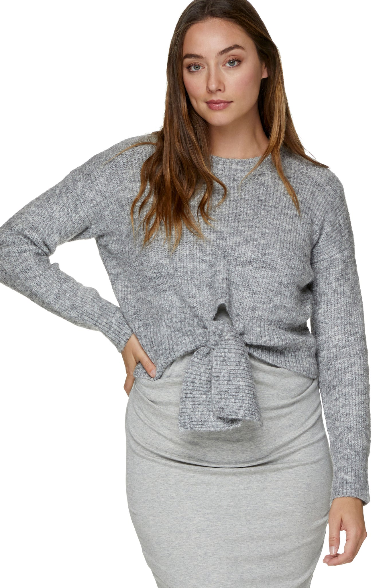 Maternity Grey Jumper 9