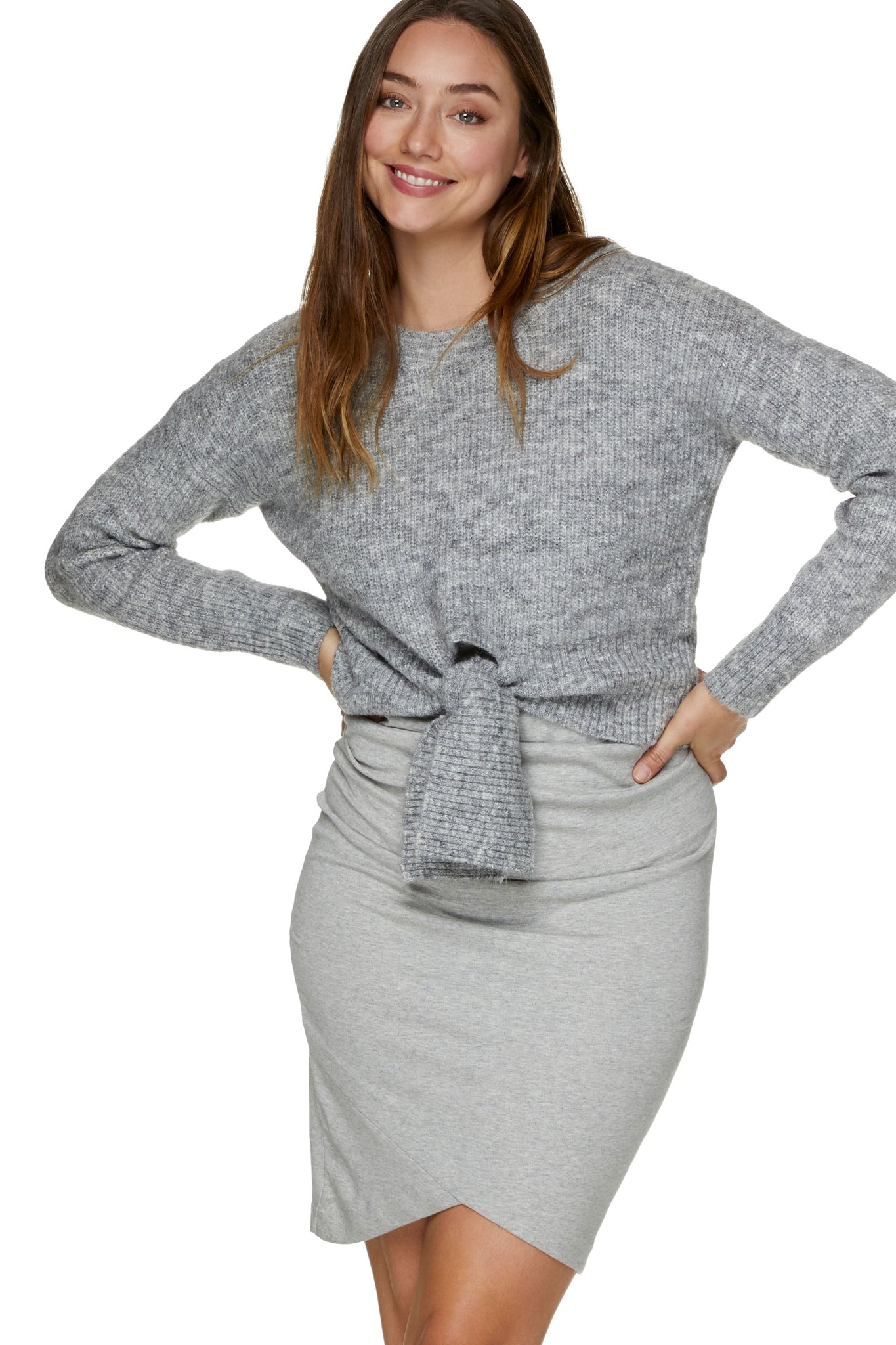 Maternity Grey Jumper 6