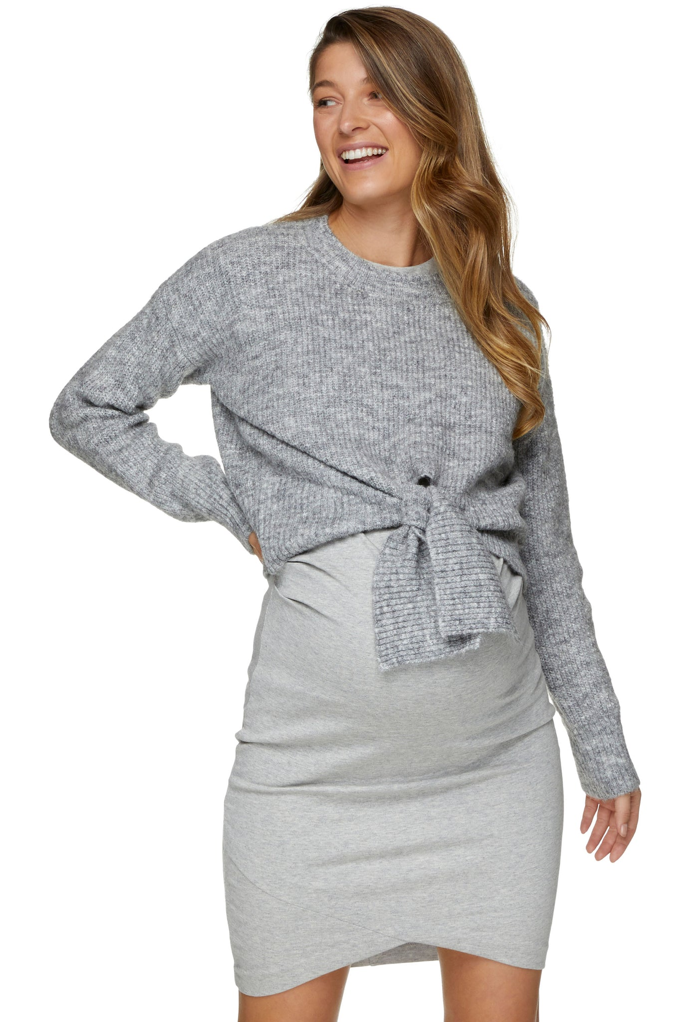 Maternity Grey Jumper 1