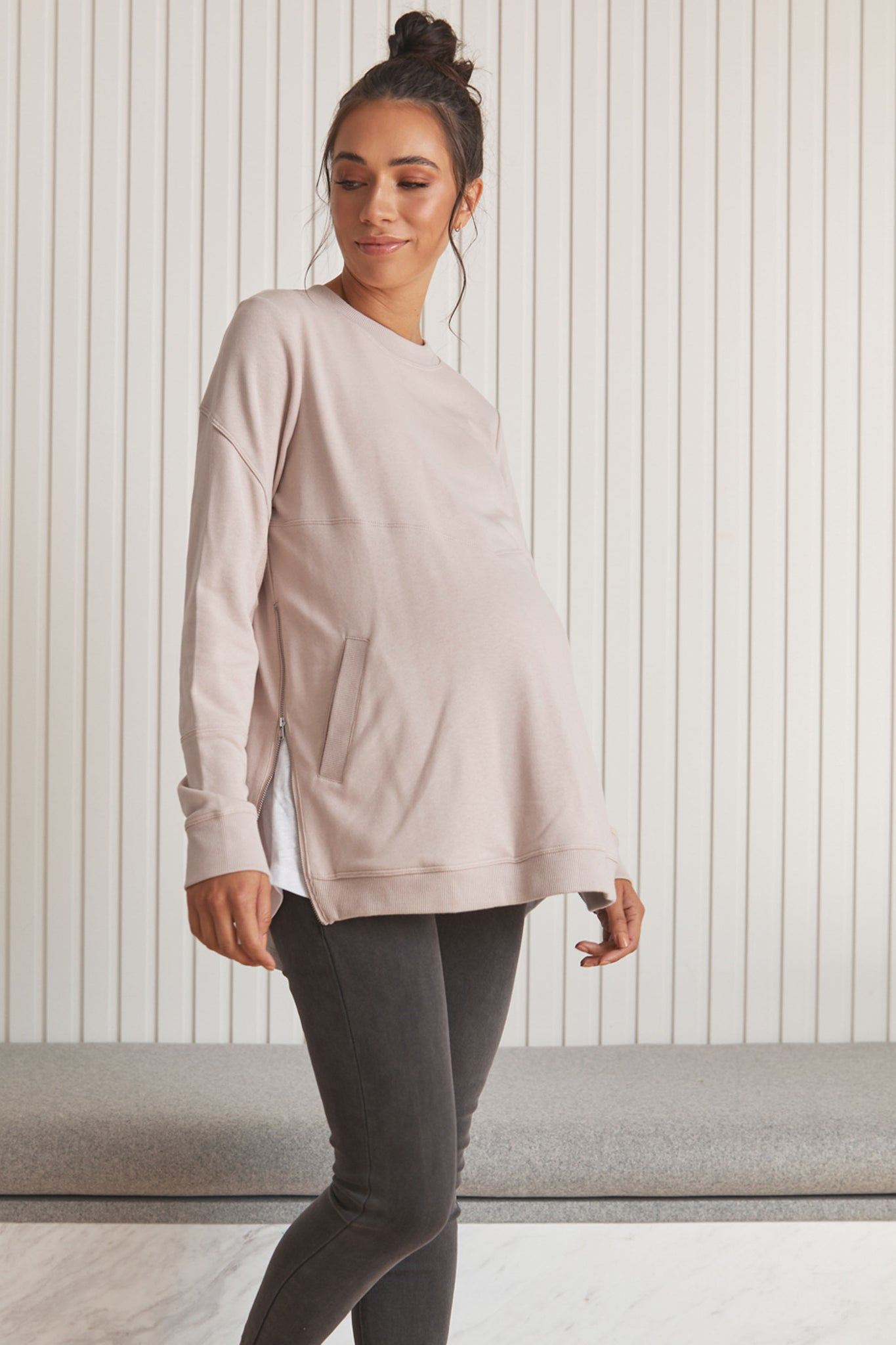 Pink Maternity Jumper 5