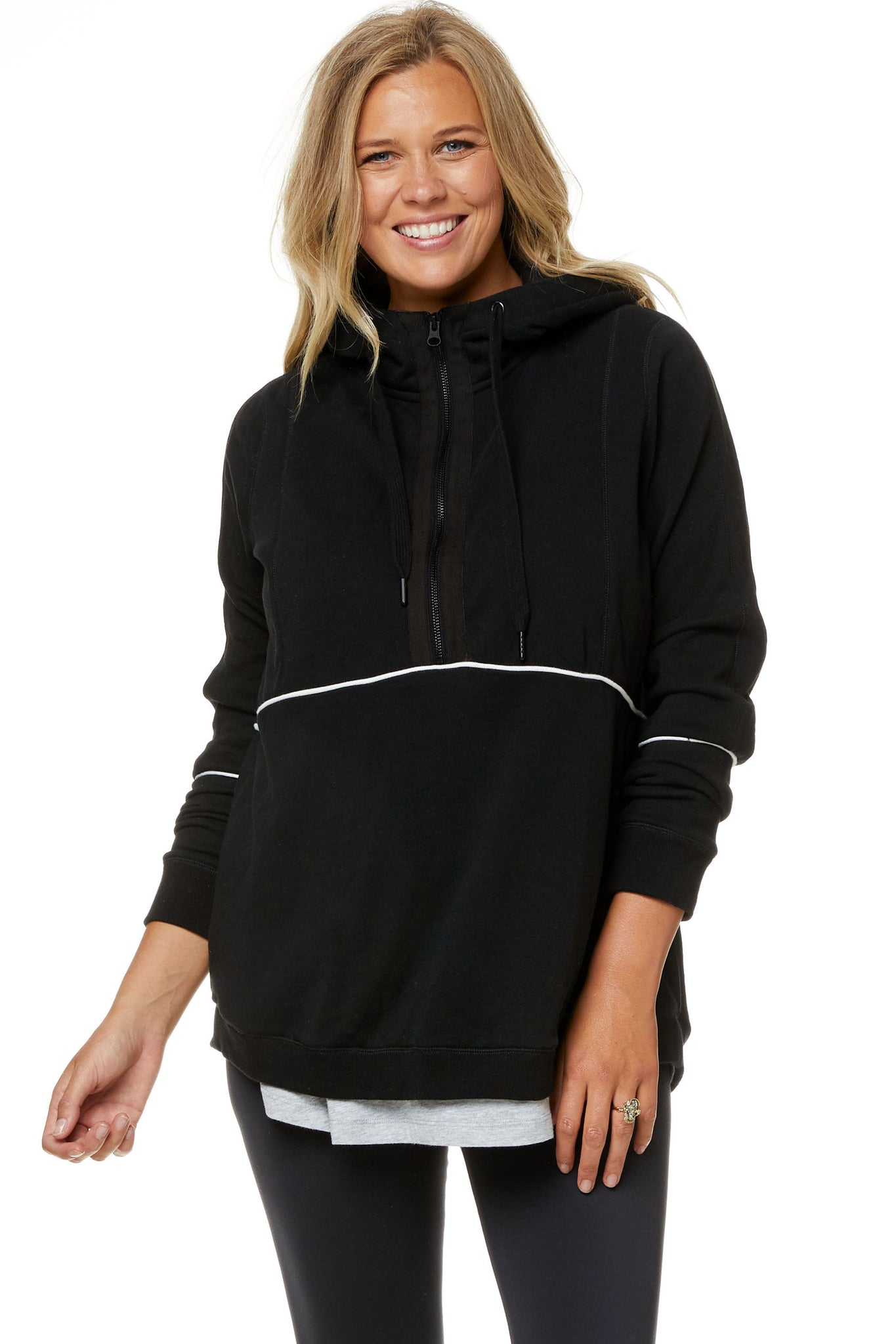 Maternity and Nursing Hoodie with Zip 6