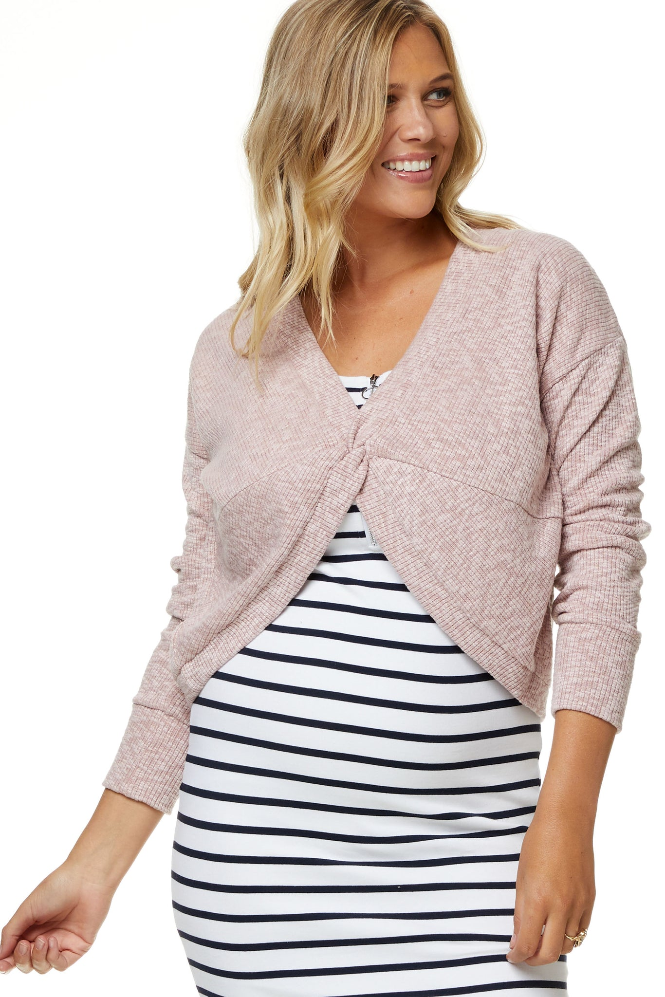 Maternity Crop Top Pink Image 6