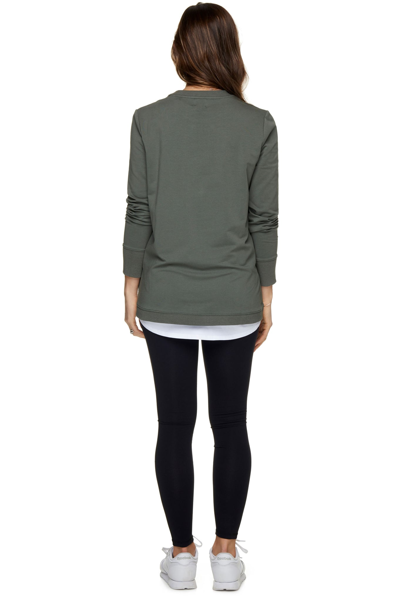 Maternity + Nursing Sweater Top - Khaki 3