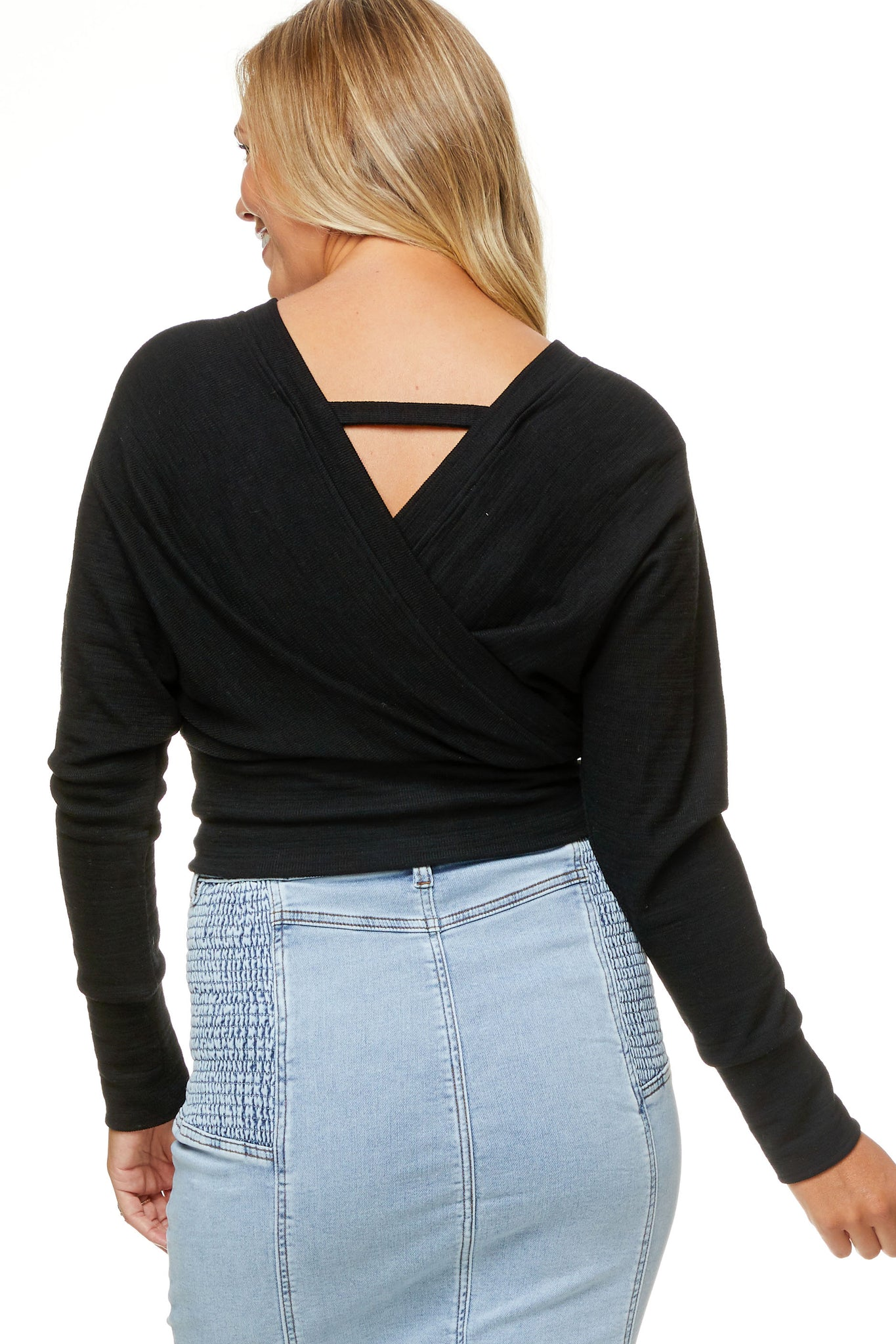 Black Maternity Crop Top 9
