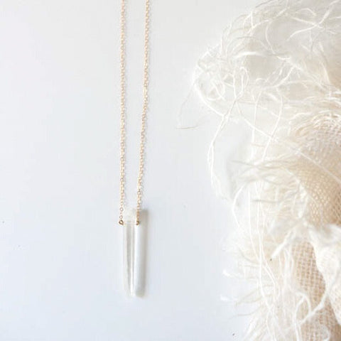 Crystal Quartz Necklace - Gather Goods Co - Raleigh, NC
