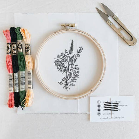 Embroidery Kit, Wildflower - Gather Goods Co - Raleigh, NC