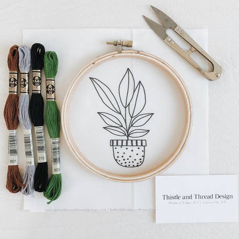 Embroidery Kit, Houseplant - Gather Goods Co - Raleigh, NC