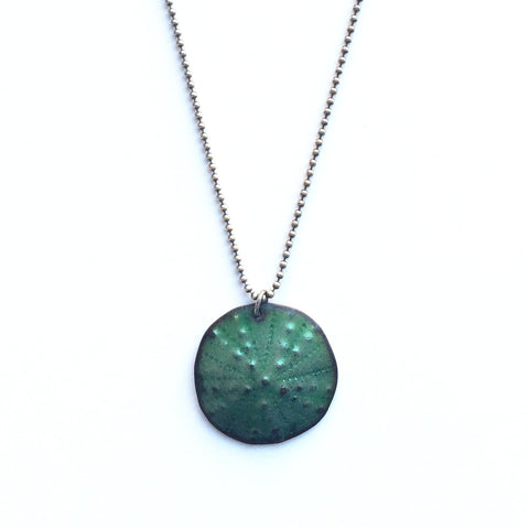 Green Patina Urchin Necklace - Gather Goods Co - Raleigh, NC