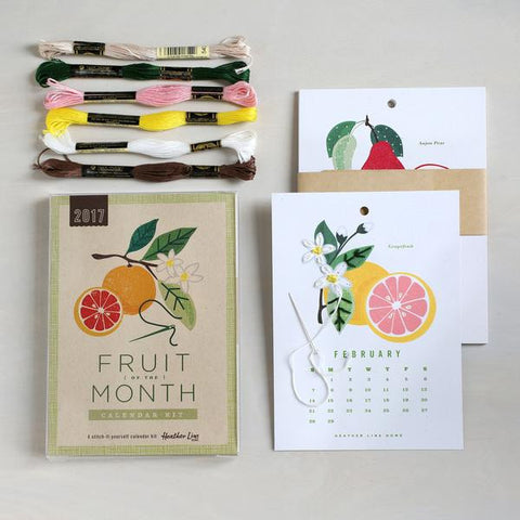 2017 Embroidered Fruit of the Month Calendar