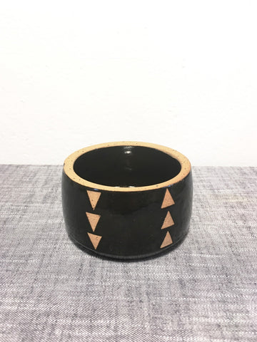 Petite Ceramic Planter, Black