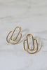 Brass Deco Arch Earrings - Gather Goods Co - Raleigh, NC