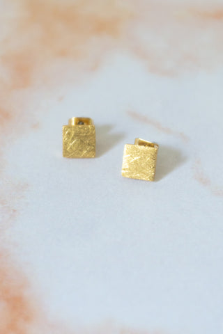 Square Stud Earrings - Gather Goods Co - Raleigh, NC