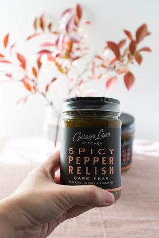 Spicy Pepper Relish, Made in North Carolina - Gather Goods Co - Raleigh, NC