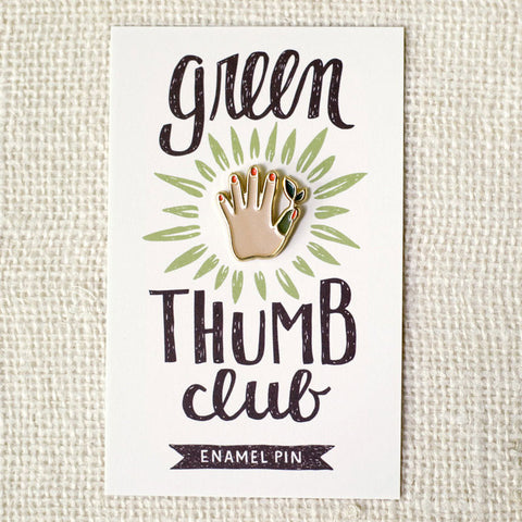 Green Thumb Enamel Pin