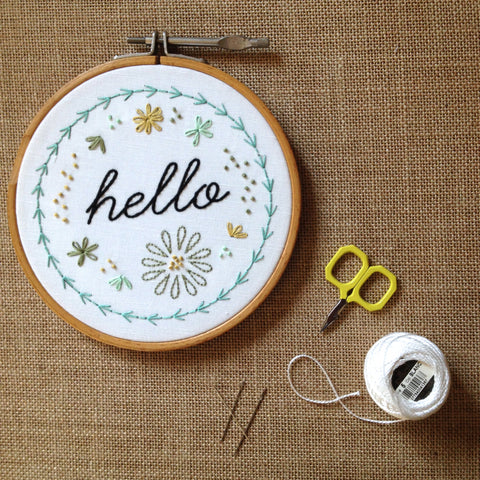 Hand Embroidery Basics<br>Tuesday, March 31st<br>6:30-8:30pm - Gather Goods Co - Raleigh, NC