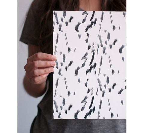 Black and White Spotty Print - Gather Goods Co - Raleigh, NC