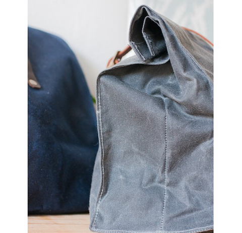 Waxed Canvas Lunch Sack - Gather Goods Co - Raleigh, NC