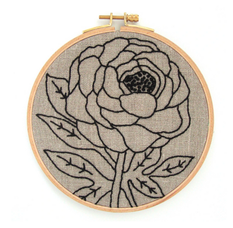Embroidery Kit, Peony - Gather Goods Co - Raleigh, NC