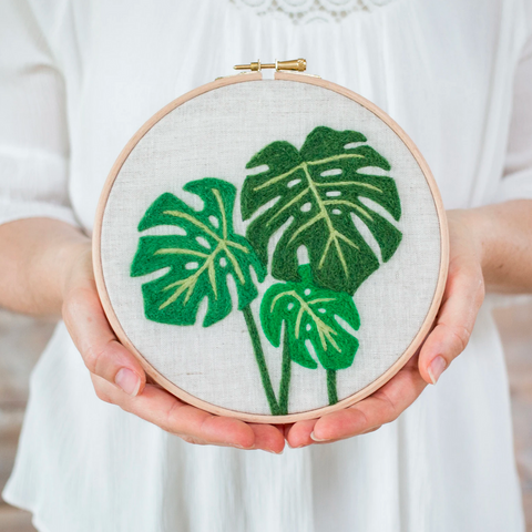 Monstera Needle Felting Kit - Gather Goods Co - Raleigh, NC