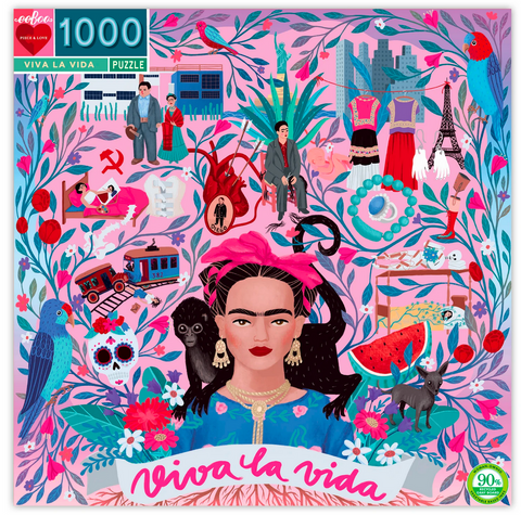 Frida Kahlo, 1000 Piece Puzzle - Gather Goods Co - Raleigh, NC