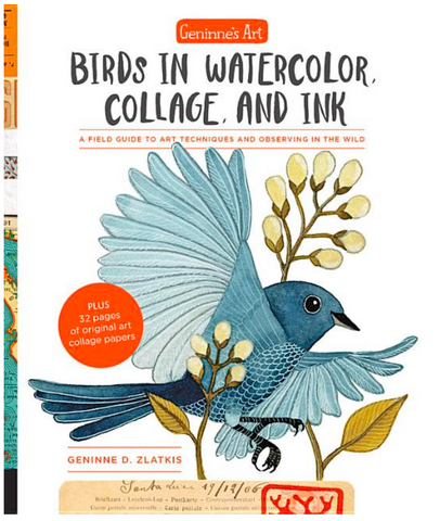 Geninne's Art: Birds in Watercolor, Collage, and Ink: A Field Guide to Art Techniques and Observing in the Wild - Gather Goods Co - Raleigh, NC