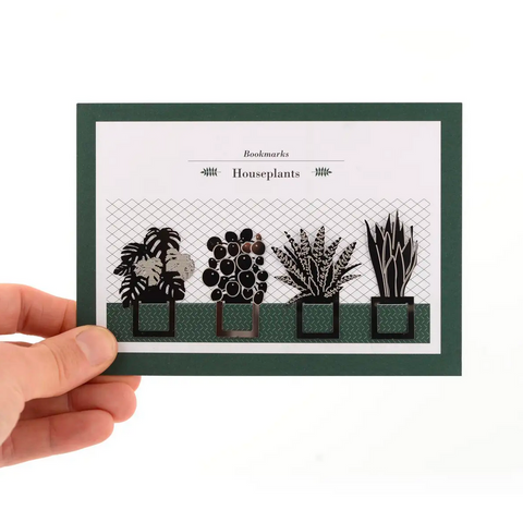Houseplant Bookmark Set, Stainless Steel