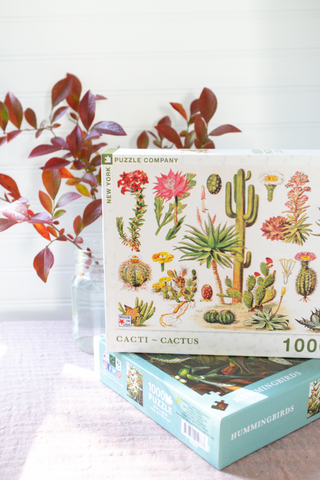 Cactus, 1000 Piece Puzzle - Gather Goods Co - Raleigh, NC