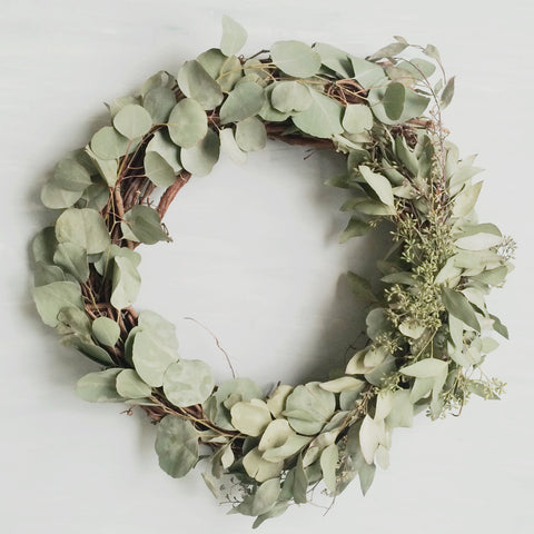 "Eucalyptus Wreath, 18"" - Gather Goods Co - Raleigh, NC"