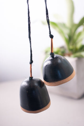 Hanging Ceramic Bell, Black - Gather Goods Co - Raleigh, NC