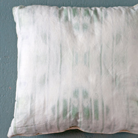 "Faded Gray Blue Dyed Throw Pillow, 18"" - Gather Goods Co - Raleigh, NC"
