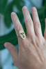 Brass Face Ring - Gather Goods Co - Raleigh, NC