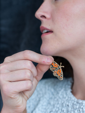 Monarch Butterfly Enamel Pin - Gather Goods Co - Raleigh, NC