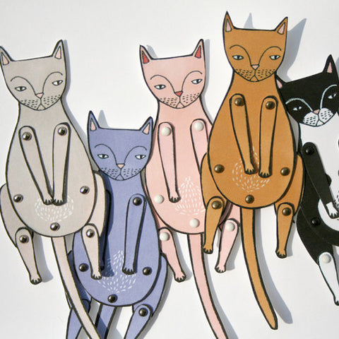 Kitty Cat Paper Dolls - Gather Goods Co - Raleigh, NC