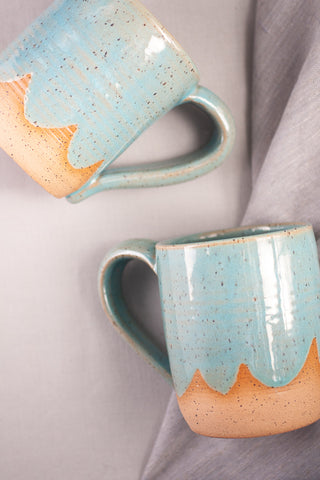Blue Speckled Ceramic Clouds Mug