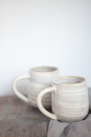 Sand & White Marbled Ceramic Mug - Gather Goods Co - Raleigh, NC