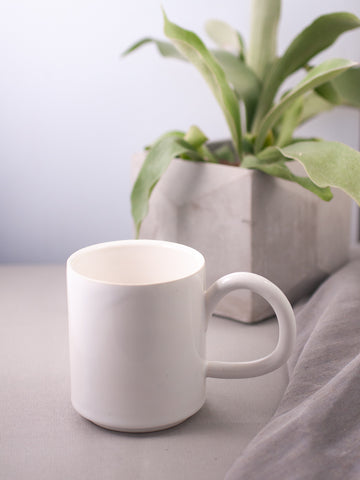 Large White Ceramic Mug