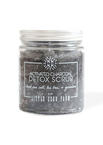 Activated Charcoal Detox Sea Salt Scrub - Gather Goods Co - Raleigh, NC