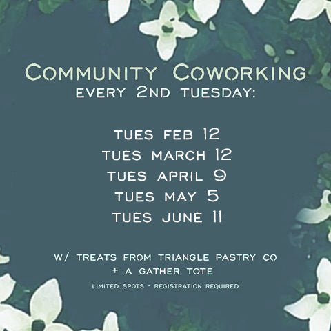 Community Coworking, Second Tuesday of Every Month
