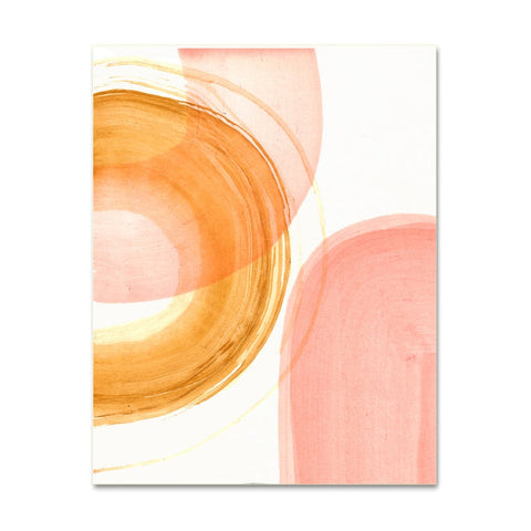 Coral Shapes Abstract Art Print