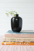 Black Porcelain Bud Vase, Oblong Shape
