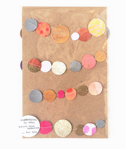 Garland, Confetti Dots, Pinks & Peaches - Gather Goods Co - Raleigh, NC