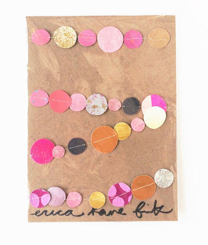 Garland, Confetti Dots, Purple & Pinks - Gather Goods Co - Raleigh, NC